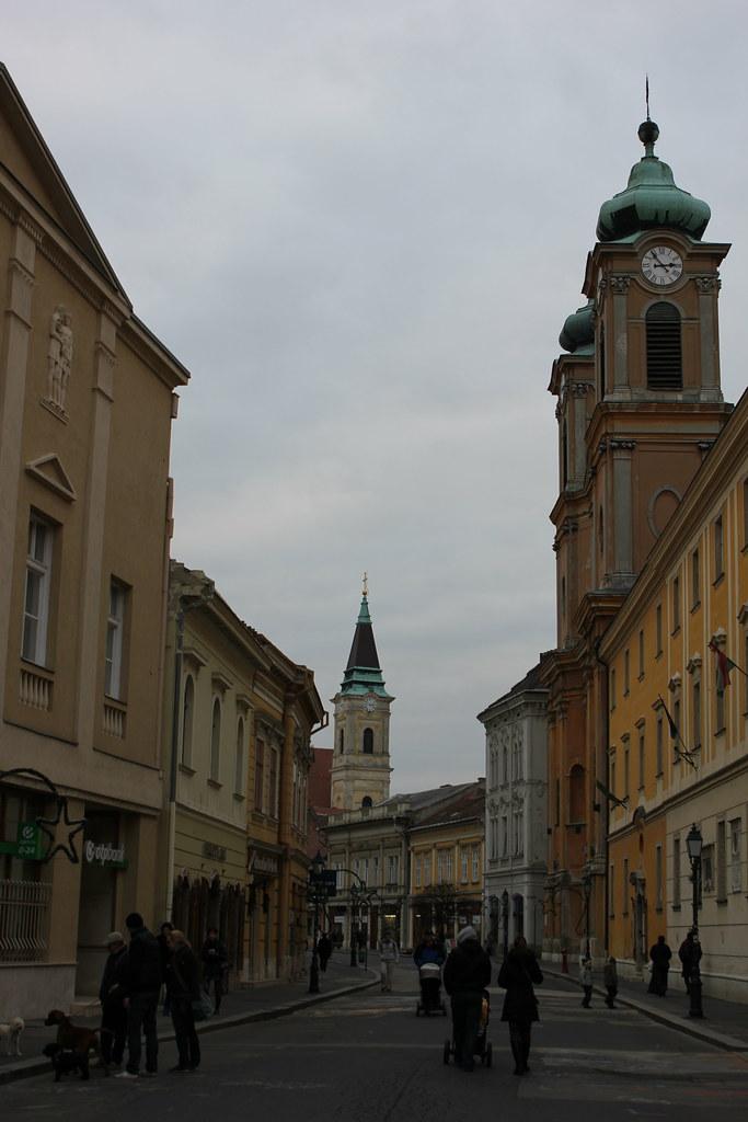 Fő utca, calle peatonal de Székesfehérvár