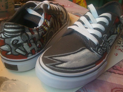 Dancing Shoes: Custom Paint by OneSevenNine
