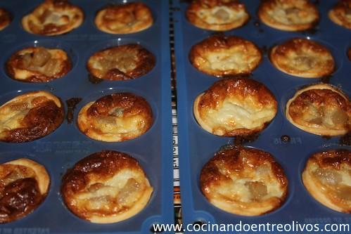 Miniquiches de pers y gorgonzola (5)