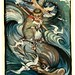 007-El mono y el delfin-The fables of Aesop 1909-Edward Detmold