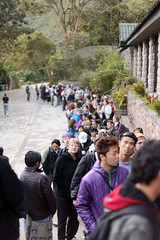 Queue to enter Machu Picchu, rear