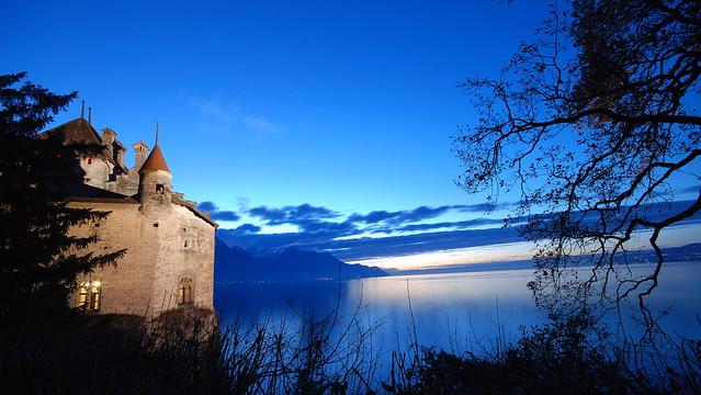 Chateau de Chillon und Genfer See