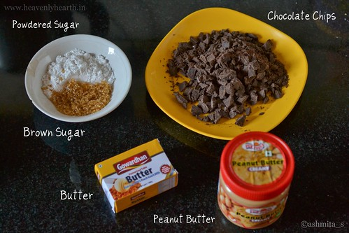 ingredients for chocolate peanut butter squares