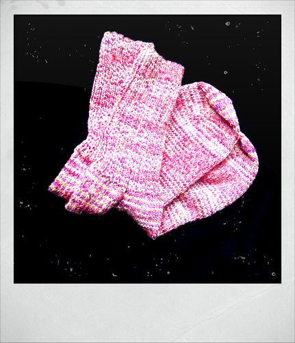 Handknit socks -- Christmas gift for my mom