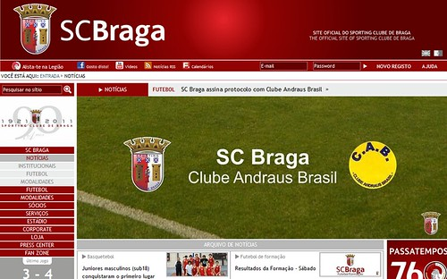 Novo Site do Sporting de Braga