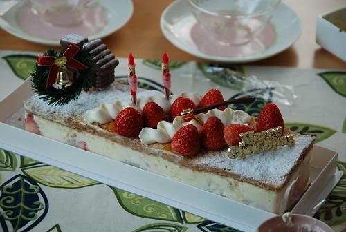 クリスマスパーティのケーキ