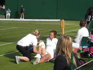 Injury time out at Wimbledon