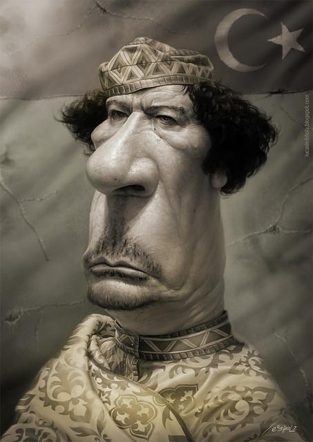 Muamar Kadafi, por Lucas Leibholz