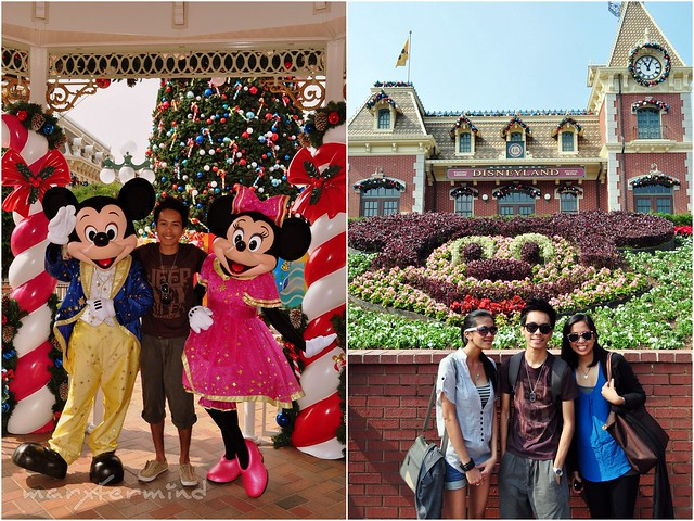 Hong Kong Disneyland with Mickey and Minnie Mouse