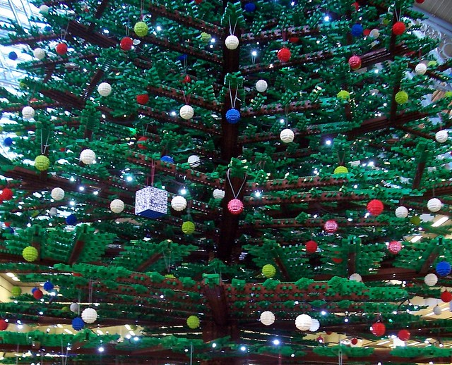 Lego Christmas tree in London