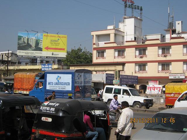 Chakan Talegaon Road at Chakan Chowk - Visit to Kushal Swarnali Township, 1 BHK & 2 BHK Budget Flats at Chakan, Pune 410 501