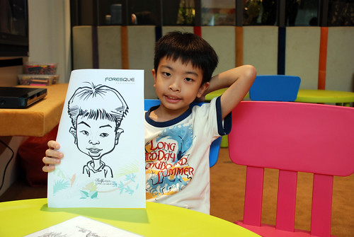 caricature live sketching for Forestque Residence (Wing Tai) - Day 1 - 4