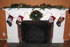 decorated mantel