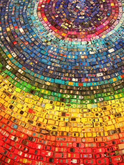 2,500 toy car art work