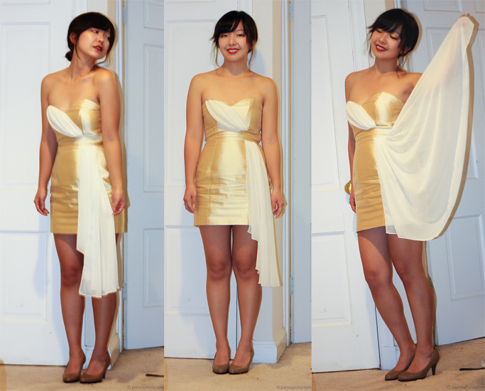 gold dress trio
