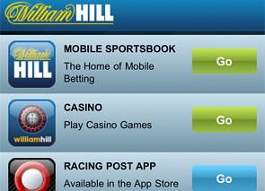 William Hill Mobile Casino Lobby