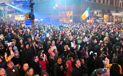 Crowd at New Years Eve Celebration in Pittsburgh