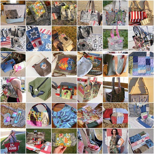 some of the Camp Follower Bags I made in 2011 by CampFollowerBagLady