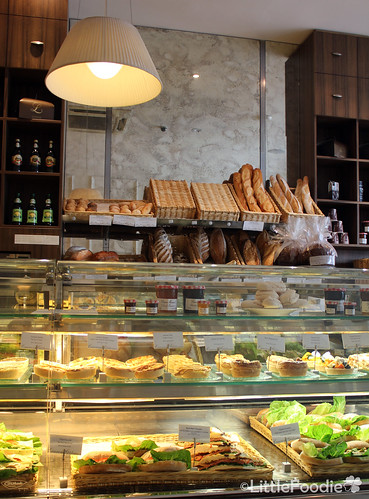 Boulangerie filled with bread, quiche and sandwiches