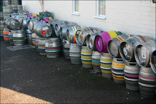 Multi-Coloured Beer Barrels