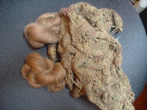 Gold batts 2 and knitting