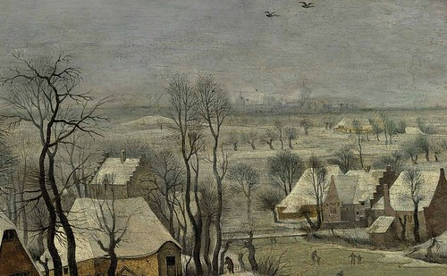 [ B ] Pieter Brueghel - Winter Landscape with a Birdtrap (1565) - Detail by Cea.