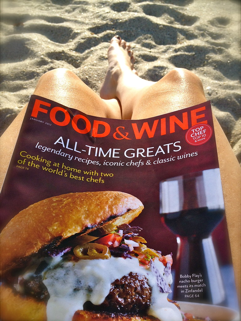 Reading Food & Wine on New Years Day.