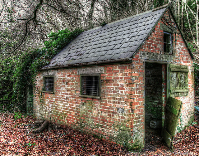 6642889609 ca3681cf47 for Brick garden shed designs