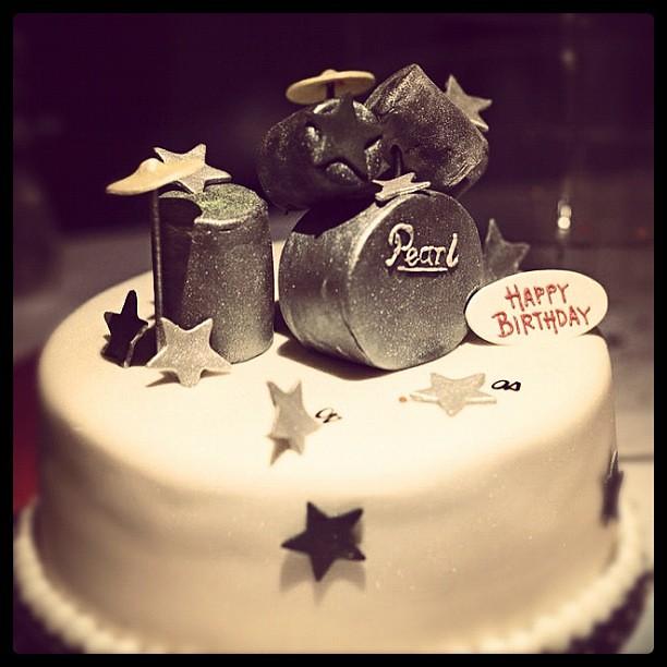 #birthday #cake #band
