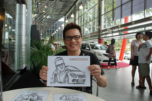 Caricature live sketching for Tan Chong Nissan Almera Soft Launch - Day 2 - 18