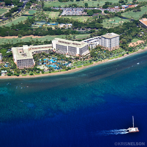 Two large resorts at the southern end of the Ka'anapali Resort area.