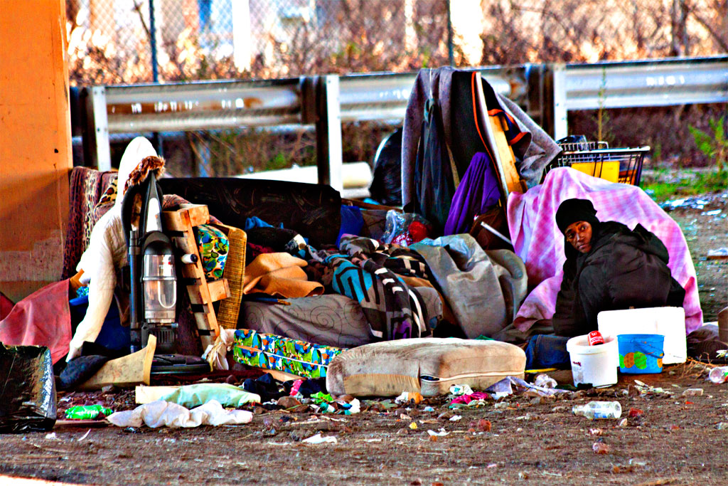 Homeless-woman-under-freeway-on-1-7-12--Northern-Liberties