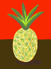 Pineapple Drawing - Final by randubnick