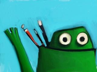 Stylus T Frog says hi.