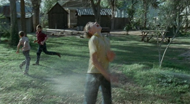 tree of life, malick, boys, playing, water, hose
