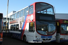 02 SP54 CHG Volvo B7TL Wright Eclipse Gemini. Travel Dundee Depot East Dock Street  DUNDEE