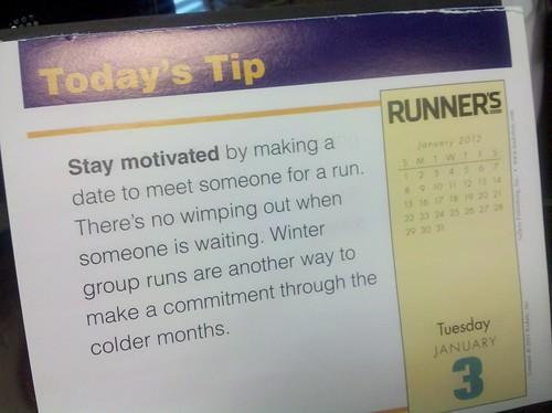 Running tip
