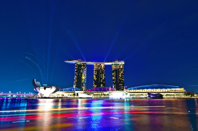 Marina Bay Sands - LED Light show | Flickr - Photo Sharing!