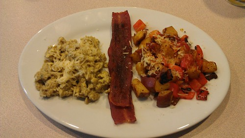 Cooking: Eggs and potatoes by dharder9475
