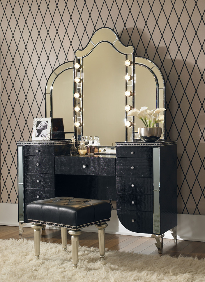 4341 black glam vanity 8084 black glam vanity stool view on