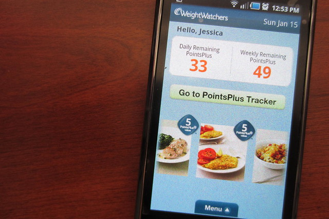 January Goals: Track my meals more faithfully and try a Weight Watchers' recipe