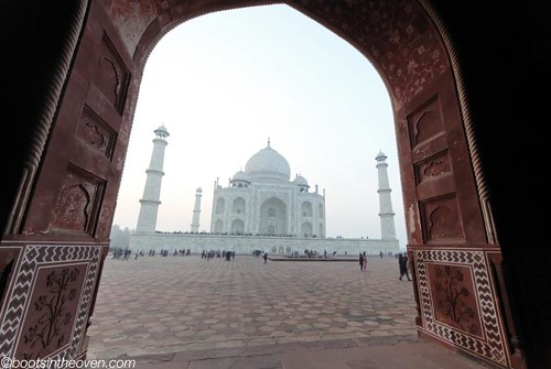 View of the Taj Mahal from the mosque