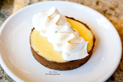 Lime tart with gingerbread crust