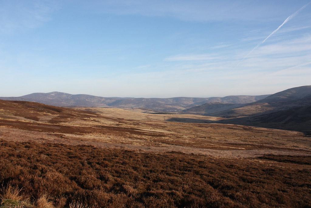 Mount Battock above Glen Esk