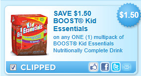 Boost Kid Essentials Nutritionally Complete Drink Coupon
