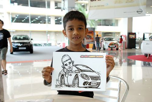 Caricature live sketching for Tan Chong Nissan Motor Almera Soft Launch - Day 4 - 8
