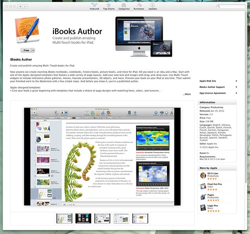iBooks Author is in the App Store by stevegarfield
