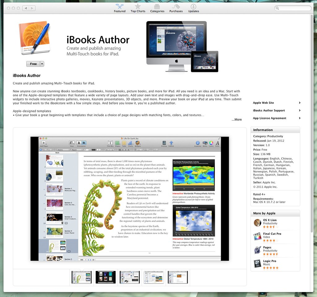 iBooks Author is in the App Store   If you'd already opened