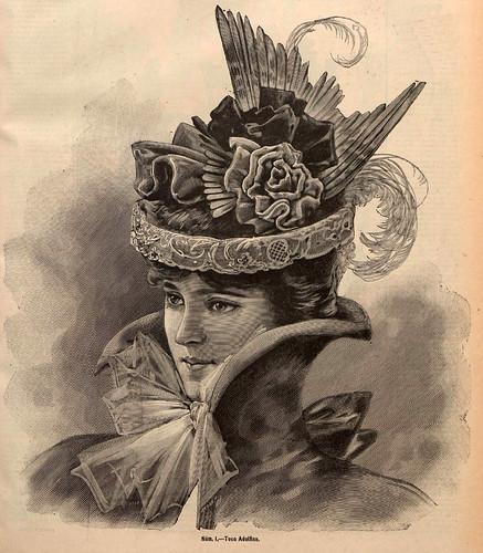 007-Tocado Adolfina- La Última moda-revista ilustrada hispano-americana, del 10 de octubre de 1897-copyright MemoriadeMadrid