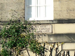 Thomas Carlyle lived here
